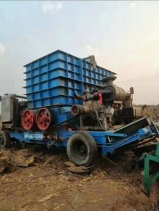 mobile stump shredder